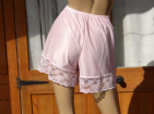 "HANDMADE VTG STYLE SILKY NYLON FRENCH KNICKERS/BLOOMERS   WAIST 28-42""""  #171"